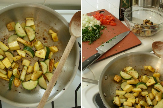 Veggies get sauteed individually so that each one gets fully seasoned ...