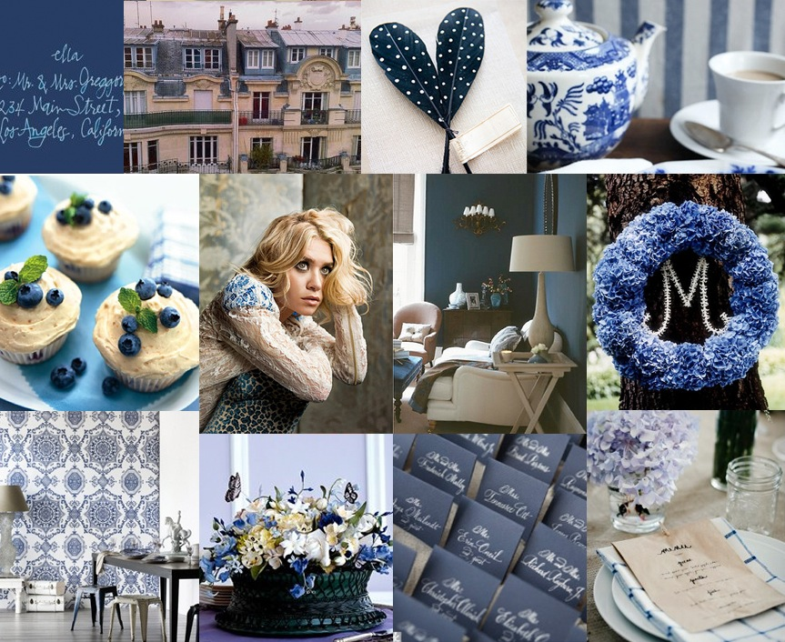 Stormy Blue Inspiration Board, Style Notes