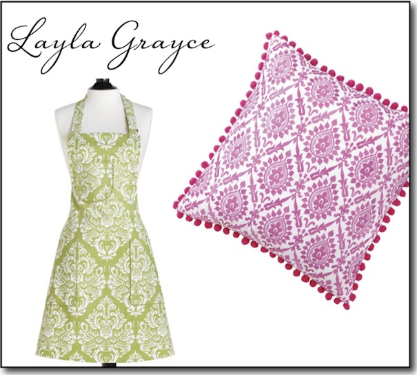 Damask Print Pillow and Apron - Layla Grayce - Camille Styles Events