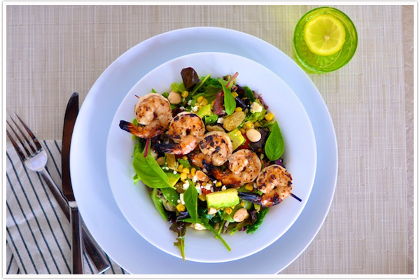 Tuesday Tastings :Grilled Shrimp + Corn SaladCamille Styles