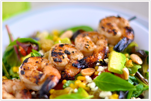 Tuesday Tastings :: Grilled Shrimp + Corn Salad - Camille Styles