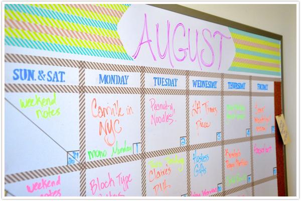 Whiteboard Calendar Diy : Transformed a dry erase board camille styles