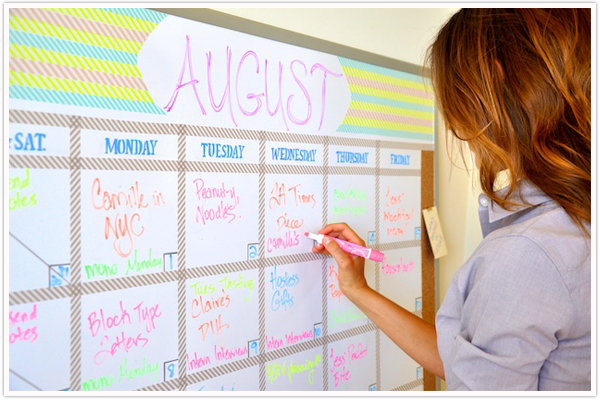 Whiteboard Calendar Ideas : Transformed a dry erase board camille styles