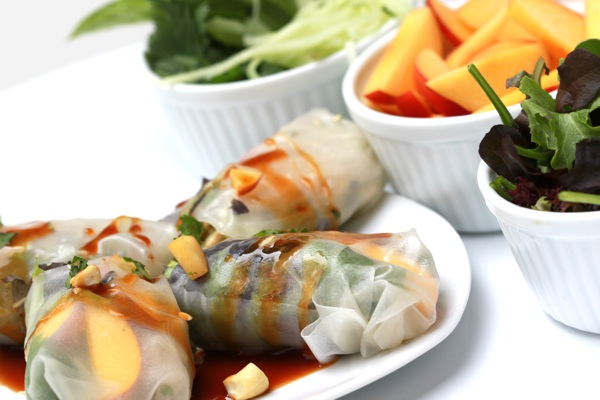 Peach Asian Spring Roll Recipe - Forgiving Martha - Camille Styles Events