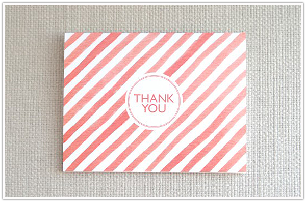 watercolor stationery note card greeting card - social proper - oh so beautiful paper -  camille styles events