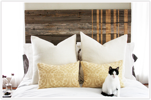 DIY headboard wooden fence transformation step by step instructions