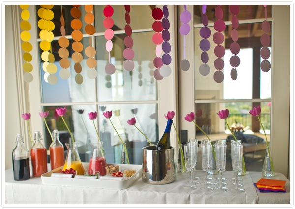 build your own mimosa bar new years day party colorful mobile