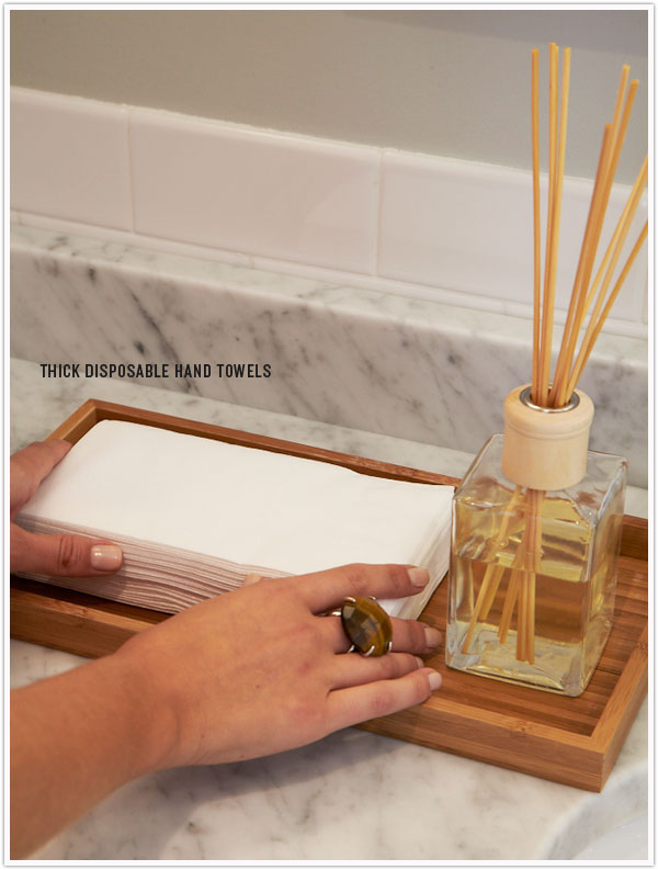 Bathroom Napkins powder room prep - camille styles