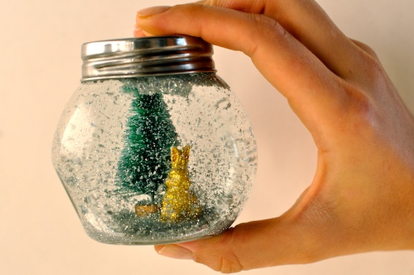 diy make your own glitter snow globe holiday winter christmas craft easy best