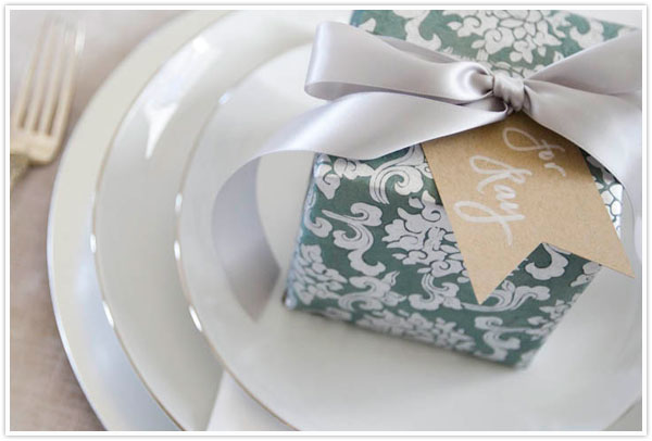 Austin American Statesman Christmas Holiday Table Setting Decor Idea Place Setting Green Sage White Silver