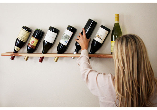 Transformed wood plank wine rack camille styles - Botelleros de madera rusticos ...