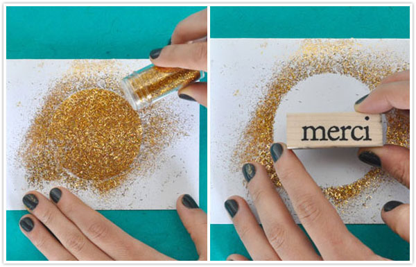 DIY :Gilded Thank You CardsCamille Styles