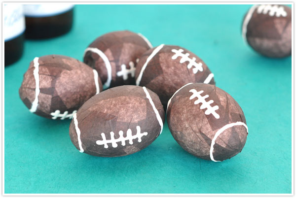 superbowl super bowl football craft project party eggs confetti cascarones
