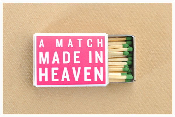 matchbox match box favor gift craft valentine valentine's day cute easy diy