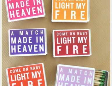 matchbox match box favor gift craft valentine valentine's day cute easy diy