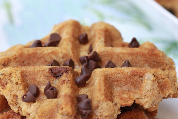 Oatmeal Chocolate Chip Waffle Cookies