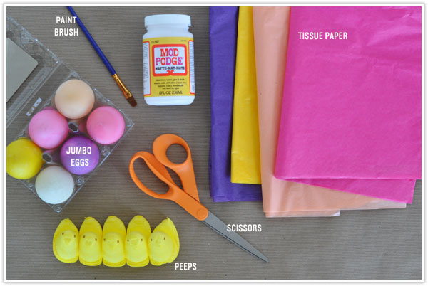 egg hatching peep easter egg diy