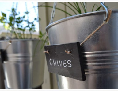 hanging herb garden chalk board sign diy planter easy paper whites blog