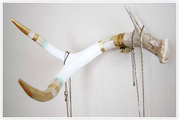 shed antler hanger hook diy coat rack paint gold