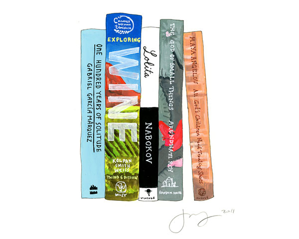 the ideal bookshelf favorite books illustration art