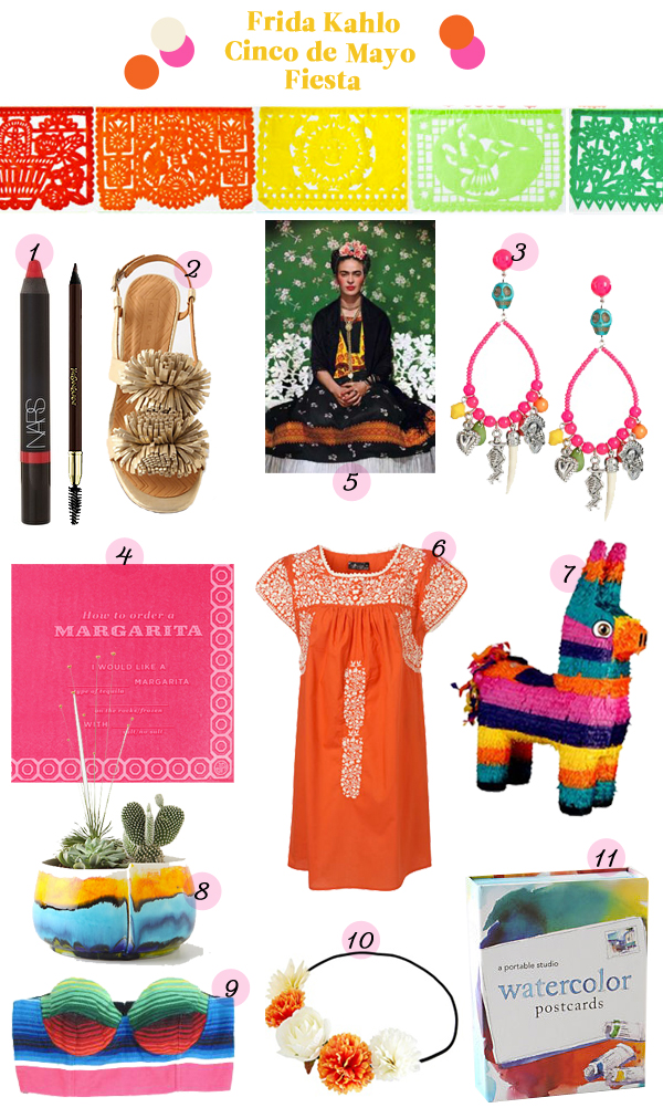 frida kahlo fiesta mexican party inspiration guide items products anthropology colorful pinata mexico cinco de mayo