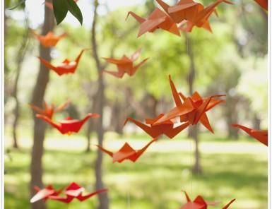 diy craft how to make an origami crane garland streamer hanging installation