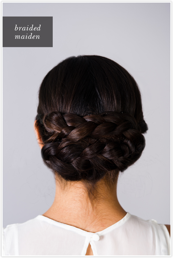Pretty Simple Braided Chignon Camille Styles