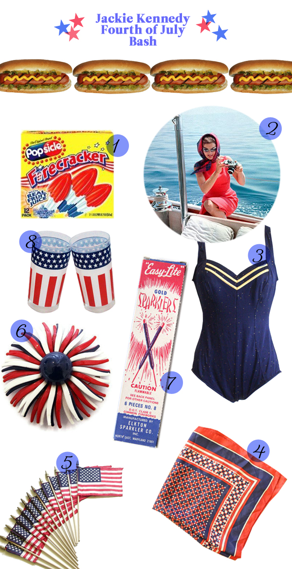 jackie kennedy fourth of july summer party inspiration ideas