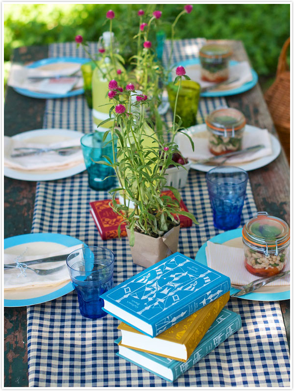 Gingham Summer Picnic Table | Camille Styles