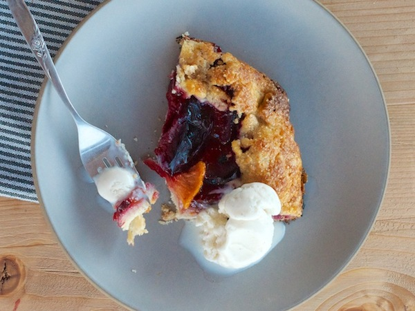 Peach & Plum Crostata Recipe | Camille Styles