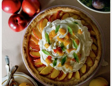 Summer Peach and Vervain Tart Recipe | By Mimi Thorisson for Camille Styles