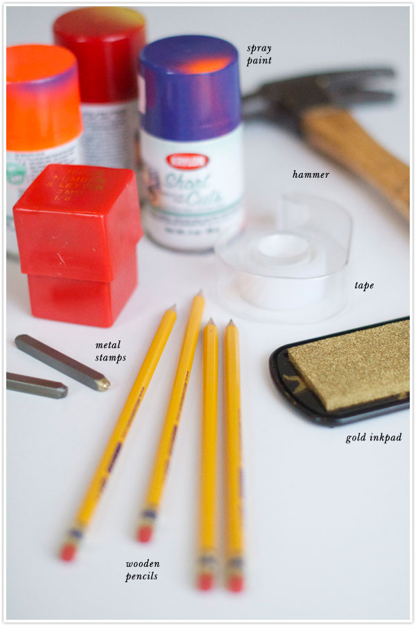 DIY Back to school Pencils | Camille Styles