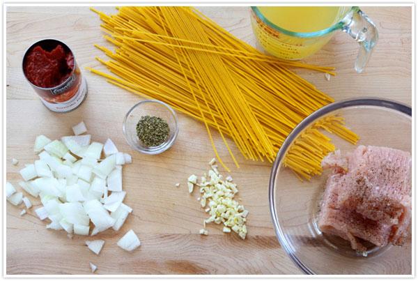 One Pot Spaghetti | Lisa Thiele for Camille Styles