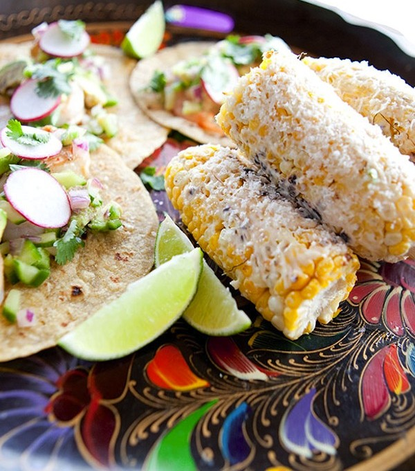 Recipe for Shrimp Tacos and Mexican Street Corn for Rue Magazine | Camille Styles