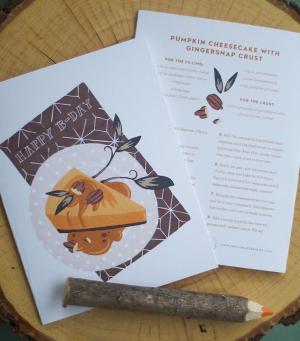 Printable Fall Greeting Cards | Katie Evans for Camille Styles