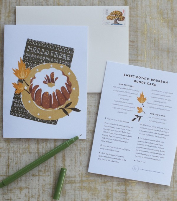 Free Printable Fall Greeting Cards | By Katie Evans for Camille Styles