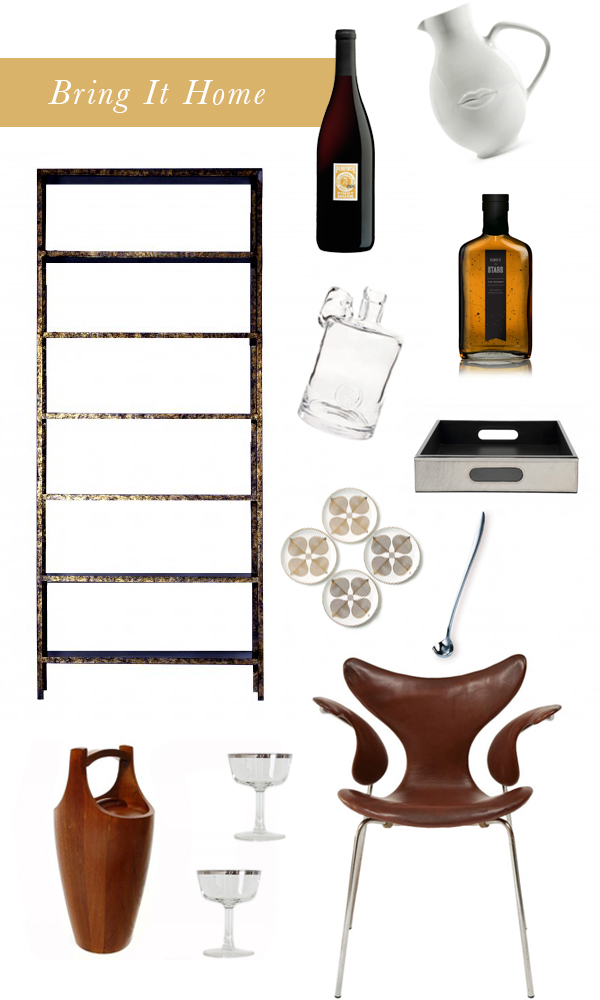 Bookcase Bar Cart | Fuji Files for Camille Styles