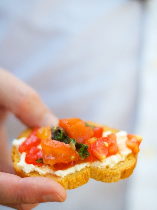 Checca Crostini Recipe | Camille Styles