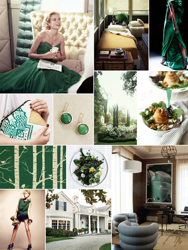 Kelly Green Inspiration Board | Camille Styles