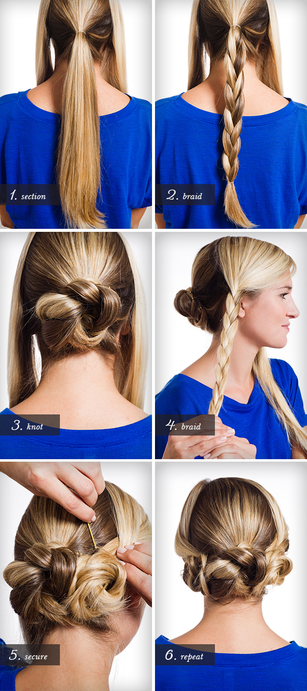 Triple Braided Bun Tutorial | Camille Styles