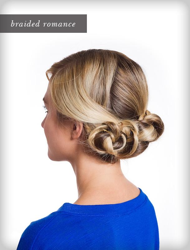 Pretty Simple Triple Braided Bun Camille Styles - Hairstyle bun tutorials