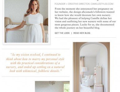 Camille Styles baby nursery featured on Serena & Lily