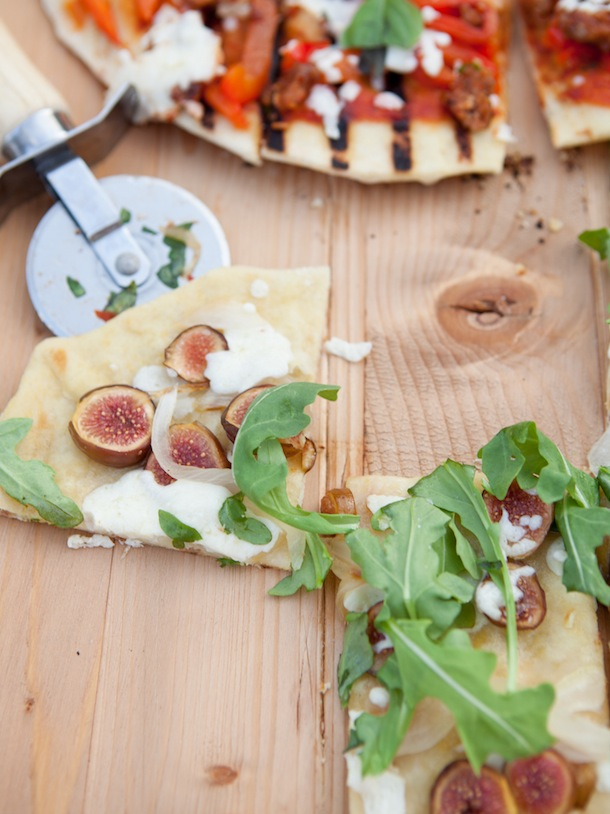 Fig, Goat Cheese, And Caramelized Onion Sandwiches Recipe — Dishmaps