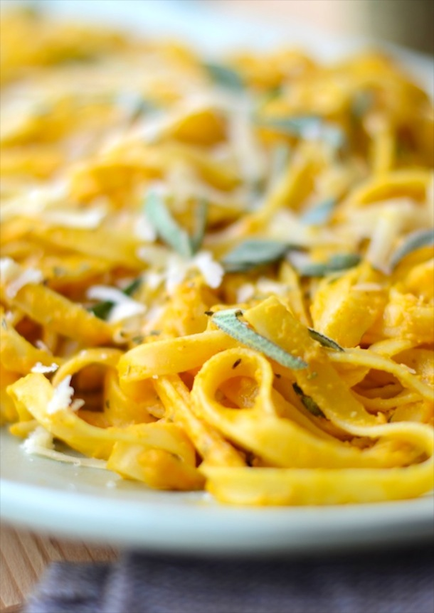 recipe for pumpkin fettuccine with sage | by forgiving martha for camille styles