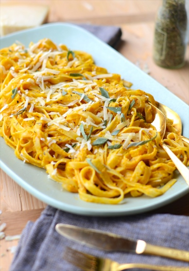 recipe for pumpkin fettuccine with sage   by forgiving martha for camille styles