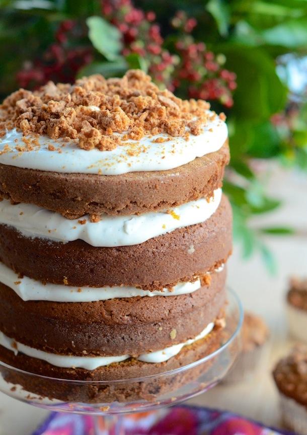 Pumpkin Tiramisu Cake | Camille Styles