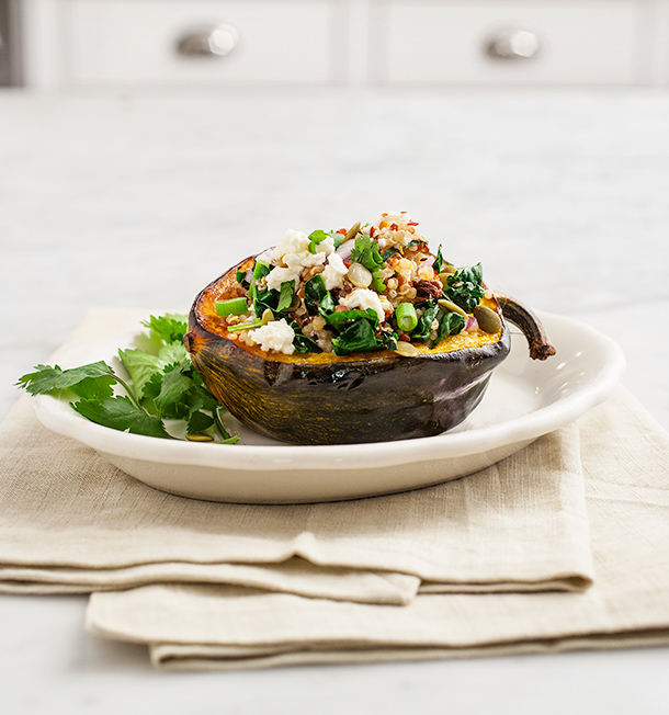 Quinoa Stuffed Acorn Squash | Love and Lemons for Camille Styles