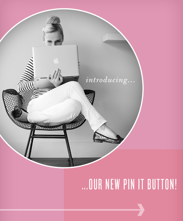 New Pin It Button | Camille Styles