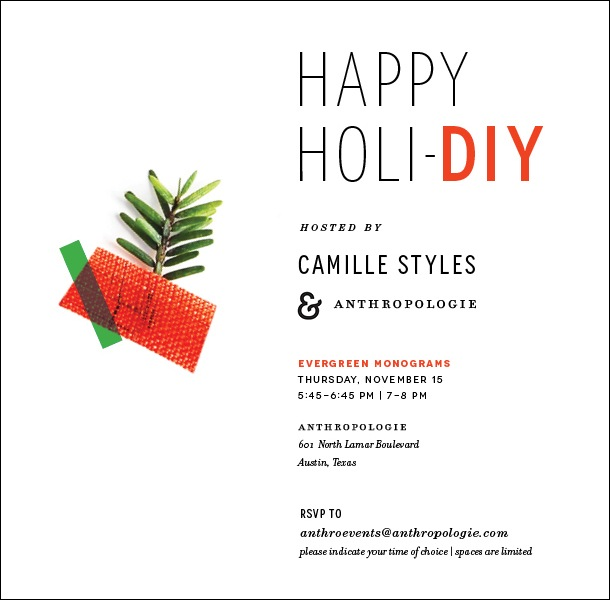 Camille Styles Anthropologie Holiday DIY Event | Camille Styles