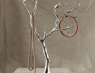 Cast Metal Jewelry Tree